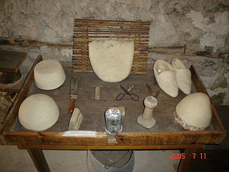 Qeleshe - Wool products at the Kruja Ethnographic Museum