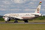 Etihad Airways, Boeing 777-3FX(ER), A6-ETP (18592873642).jpg