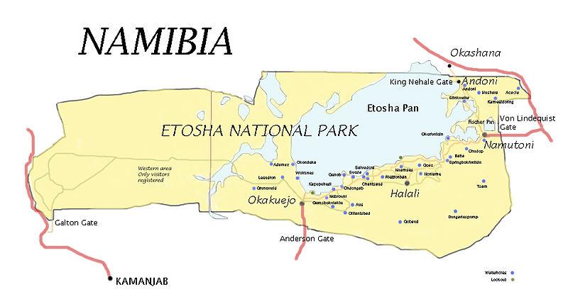 Bildergebnis für etosha map