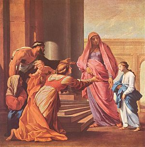 Eustache Le Sueur - Eustache Le Sueur, Presentation of the Virgin in the Temple, c. 1640–1645, Hermitage Museum, St. Petersburg