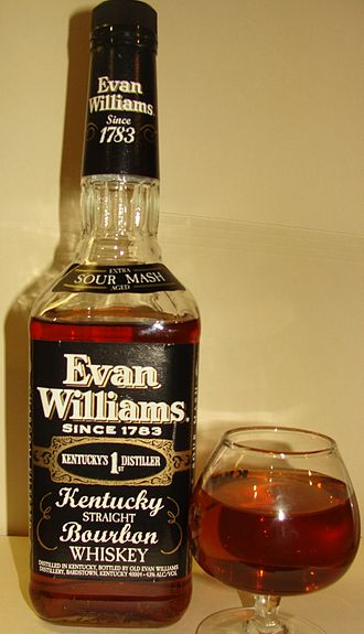 Evan Williams (bourbon) - A bottle of Evan Williams.