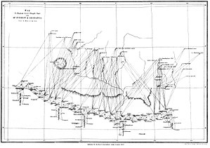 Andrew Scott Waugh - Waugh's map to show Hodgson's incorrect identification of Deodanga