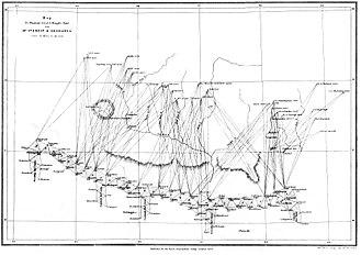 Andrew Scott Waugh - Waugh's map to show Hodgson's incorrect identification of Deodanga