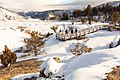 Exploring boardwalks at Mammoth Hot Springs during winter (49266661092).jpg