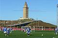 Fútbol ó pé da Torre de Hércules.jpg