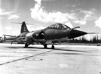 156th Airlift Wing - F-104D Starfighter of the 198th Tactical Fighter Squadron.