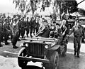 FD Roosevelt reviewing troops from jeep at Casablanca 1943.jpg
