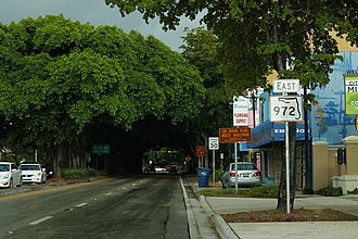 Coral Way (street) - Florida State Road 972 sign on Coral Way.