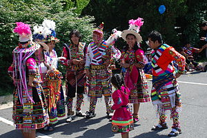 Fairfax, Virginia - 2014 4th of July parade dance group Fraternidad Tinkus Wapurys