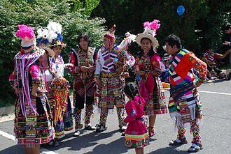 Fairfax, Virginia - 2014 4th of July parade dance group Fraternidad Tinkus Wapurys
