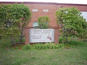 Fairmont Heights High School - Image: Fairmont Heights High School 006