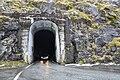 Faroe Islands, Borðoy, Norðdepil (2), entrance to Hvannasundstunnilin.jpg