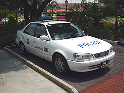 A Toyota Fast Response Car parked outside the Serangoon Gardens Neighbourhood Police Post in Singapore