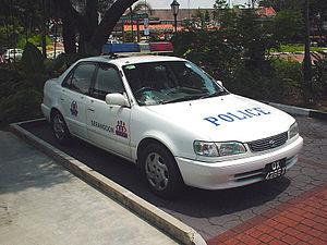 Singapore Police Fast Response Car parked outside Serangoon....
