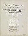 Feest-Cantate ter gelegenheid van de opening der Internationale Koloniale en Uitvoerhandel Tentoonstelling te Amsterdam. - 1 mei 1883 (titel op object), RP-P-OB-89.768.jpg