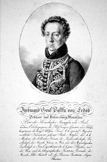 Ferdinand Graf von Palffy-Erdöd, Lithographie von Josef Lanzedellid.Ä., ca.1820 (Quelle: Wikimedia)