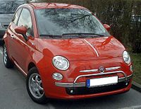 Fiat 500 front