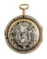 Fickur med boett av guld med glas och miniatyrporträtt, 1700-tal - Hallwylska museet - 110413.tif