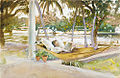 Figure in Hammock Florida by Sargent 1917.jpg