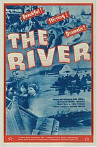 Film poster for the documentary film entitled The River from the year 1938