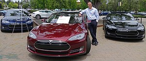 Tesla Model S - First production Model S, with owner and Tesla Board member Steve Jurvetson