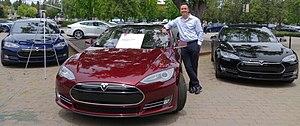 Tesla Model S - First production Model S, with owner and Tesla Board member Steve Jurvetson