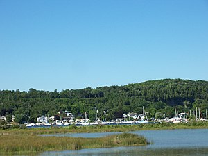 Fish Creek, Wisconsin - Fish Creek marina from Peninsula State Park