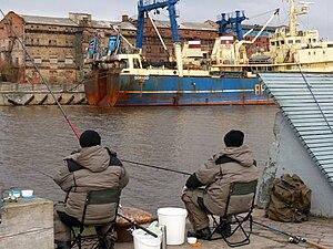 Fishers in Liepaja
