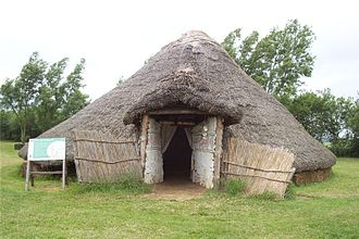 Flag Fen - The reconstructed Iron Age roundhouse at Flag Fen