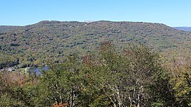 Flattop Mountain (North Carolina) from Half Moon Overlook, Oct 2016 1 (cropped).jpg