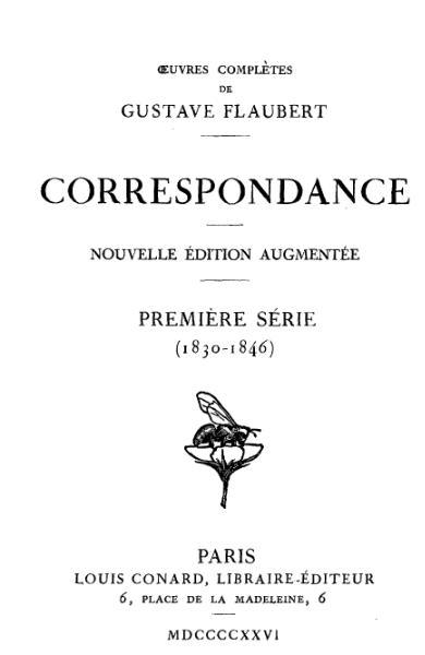 File:Flaubert Édition Conard Correspondance 1.djvu