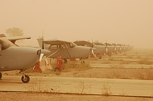 337th Aeronautical Systems Group - Iraqi Air Force Cessna 172 Skyhawks at Kirkuk Air Base