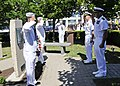 Flickr - Official U.S. Navy Imagery - Sailors exchange salutes during Sept. 11 ceremony..jpg