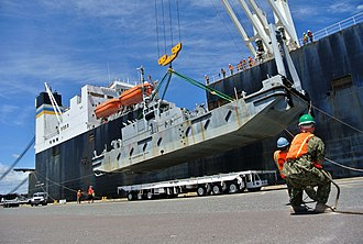 Blount Island Command - Image: Flickr Official U.S. Navy Imagery Sailors offload equipment from ship