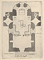 "Floorplan, Facade and Cross Section of one of the Chapels at Chateau d'Anet, from ""Les plus excellents bastiments de France"" MET DP834456.jpg"