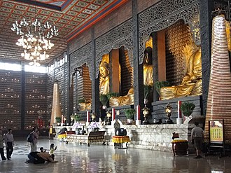 Buddhism in Taiwan - Main sanctuary of Fo Guang Shan Monastery near Kaohsiung