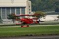Fokker Dr.I Manfred Richthofen Landing 08 Dawn Patrol NMUSAF 26Sept09 (14576878216).jpg