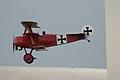 Fokker Dr.I Manfred Richthofen Pass two 08 Dawn Patrol NMUSAF 26Sept09 (14599912515).jpg
