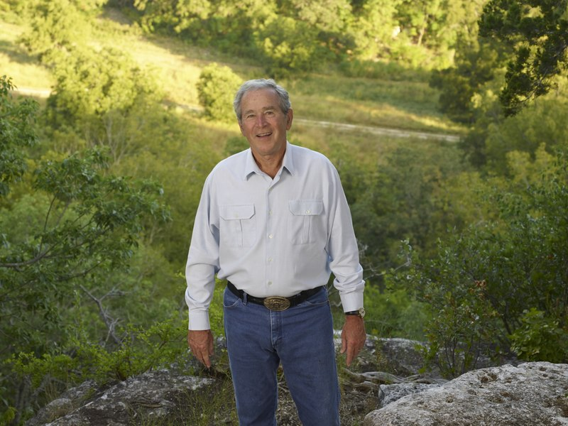 "File:Former U.S. President George W. Bush at his and First Lady Laura Bush's 1,600-acre ranch, site of the ""Texas White House"" during their visits there during the Bush presidency, near Crawford in LCCN2015630516.tif"