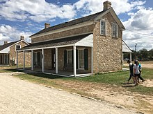 Officer's Quarters 3 from the north and west.