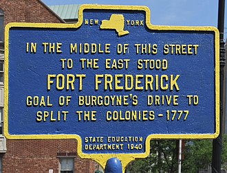 Fort Frederick (Albany) - Historic marker on State Street