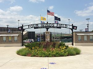 Four Winds Field at Coveleski Stadium - Image: Four Winds Field at Coveleski Stadium Gate D closeup