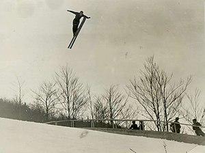 Ski flying - Franc Pribošek in Planica, 1936