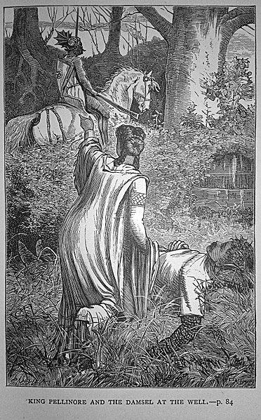 FileFrancis Arthur Fraser - King Pellinore and the Damsel at the Well Book illustrationJPG