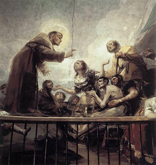 Frescos de Goya en San Antonio de La Florida. (Detalle)