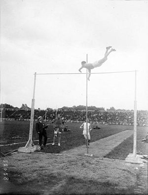 French Athletics Championships - The pole vault at the 1919 French Championships