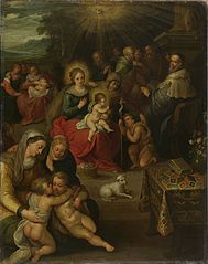 Allegory on the Christ child as the lamb of God