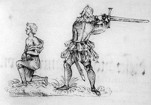 Franz Schmidt executing Hans Fröschel