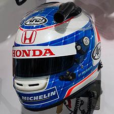 Frederic Makowiecki helmet Honda Welcome Plaza.jpg