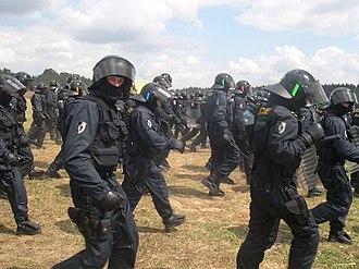 CzechTek - Riot police at CzeckTek in 2005